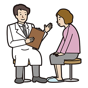 【イラスト】医師と患者