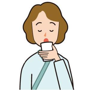 【イラスト】水を飲む女性